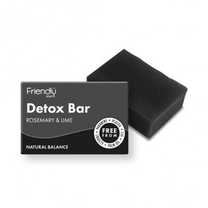 Friendly Soap, Přírodní detoxikační mýdlo rozmarýn a limeta 95g