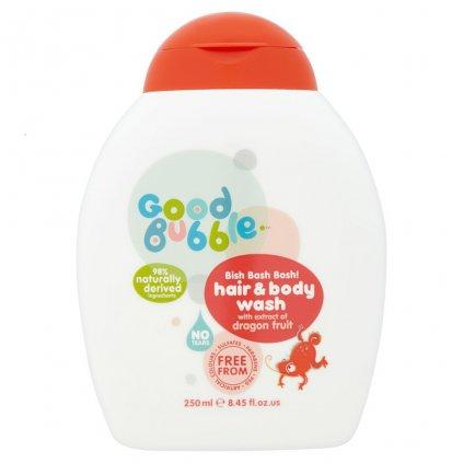 Good Bubble, Dětská mycí emulze a šampon - Dračí ovoce, 250 ml