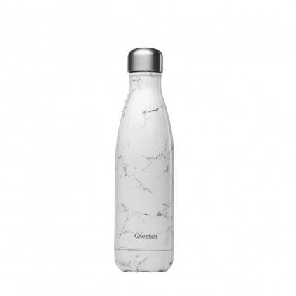 Qwetch, Nerezová termo láhev - Marble, 500 ml