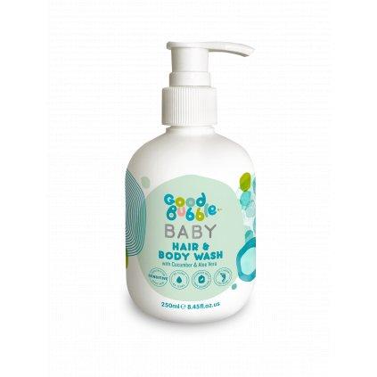 Good Bubble, Dětská mycí emulze a šampon okurka a Aloe vera - 250 ml
