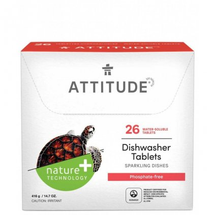 Attitude, Tablety do myčky bez fosfátů - 26 dávek