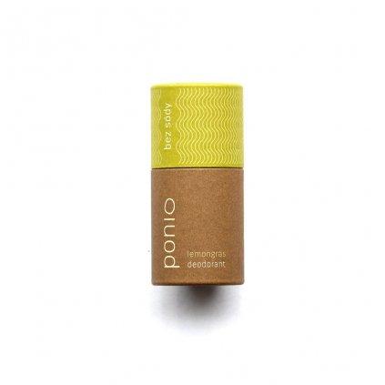 Ponio, Přírodní deodorant bez sody - Lemongrass 60g