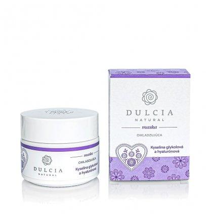 Dulcia, Omlazující maska s kyselinou glykolovou a hyaluronovou - 100g