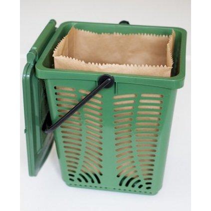 Sartori Ambiente, Interiérový koš Stelo na bioodpad - Zelený, 10L