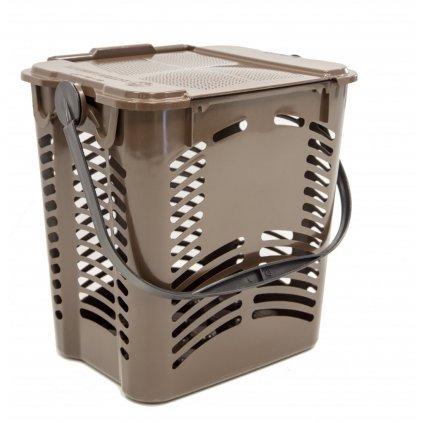Sartori Ambiente, Interiérový koš Stelo 10 EVO na bioodpad - Hnědý, 10L