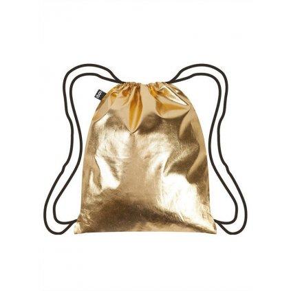 LOQI batoh Metallic Gold