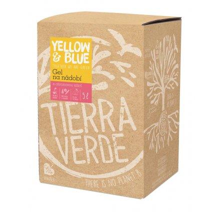 Tierra Verde, Gel na ruční mytí nádobí z mýdlových ořechů - 5L