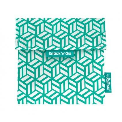 Obal na svačinu Snack´n 'Go - Tiles Green