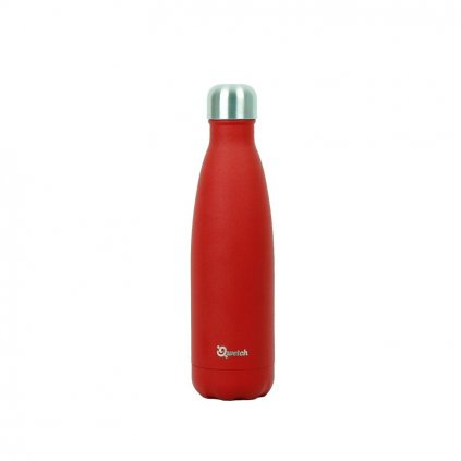 Nerezová termo láhev Qwetch - Červená, 500 ml