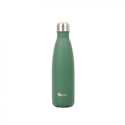 Nerezová termo láhev Qwetch - Khaki, 500 ml