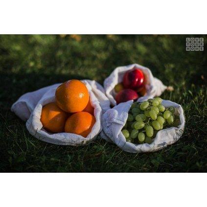 Love Your Home, Sada sáčků na ovoce, zeleninu a pečivo (3 ks)