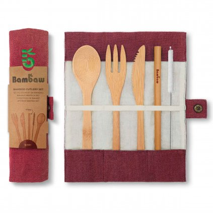 Bamabw Cutlery Set Packshot Pouch Open Closed Berry Packaging