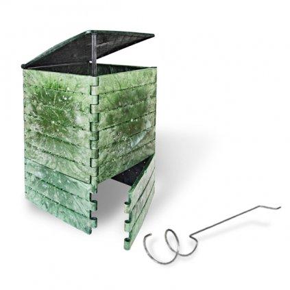 Kompostér JRK 215 PREMIUM  + Překopávač ZDARMA + Průvodce kompostováním
