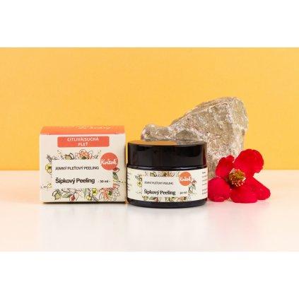 Šípkový Peeling pro suchou a citlivou pleť Navia, 30 ml