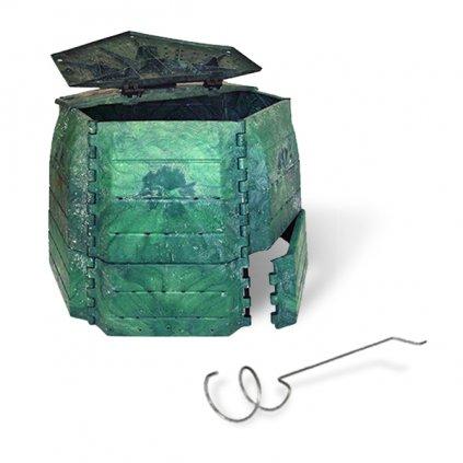 Kompostér JRK 800 PREMIUM  + Překopávač ZDARMA + Průvodce kompostováním
