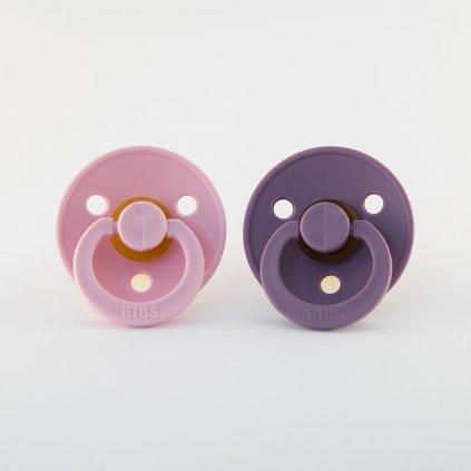 Bibs dudlíky z kaučuku velikost 1 - Baby Pink/Lavender, 2KS
