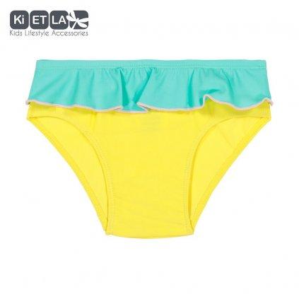 Kietla, Dětské plavkové kalhotky s UV ochranou - Žluto-zelené