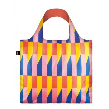LOQI, Nákupní taška - Geometric Stripes New