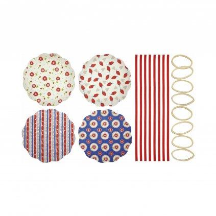 KitchenCraft, Kryt na zavařovačky - různé vzory, 8ks