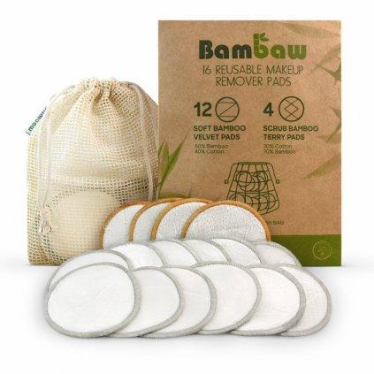 Bambaw, Bambusové odličovací tamponky  - 16KS
