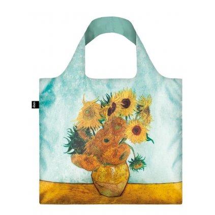 LOQI, Nákupní taška - Van Gogh, Vase with Sunflowers