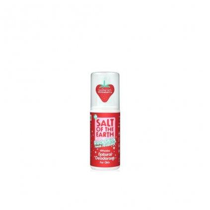 Crystal Spring, Přírodní krystalový deodorant PURE AURA - Jahoda, Sprej, 100ml
