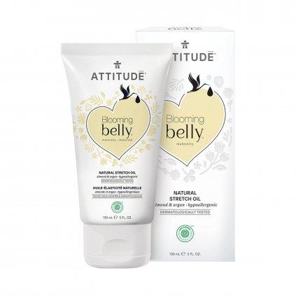 produkt attitude olej pro tehotne a po porodu s arganem a mandli blooming belly 150 ml 1