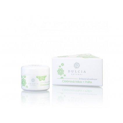 Dulcia, Krémový deodorant - Citrónová tráva a máta 30 g