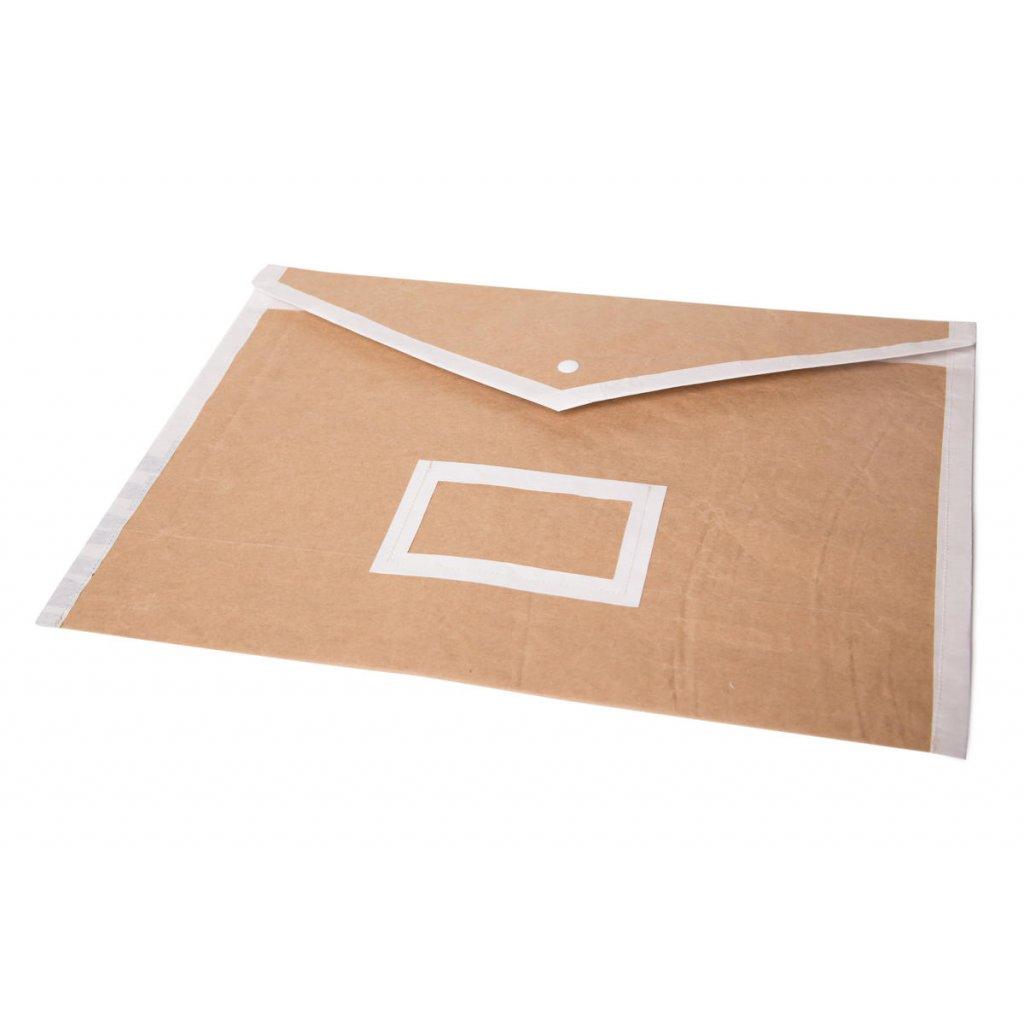 zlozka papierova na dokumenty A4 hneda2