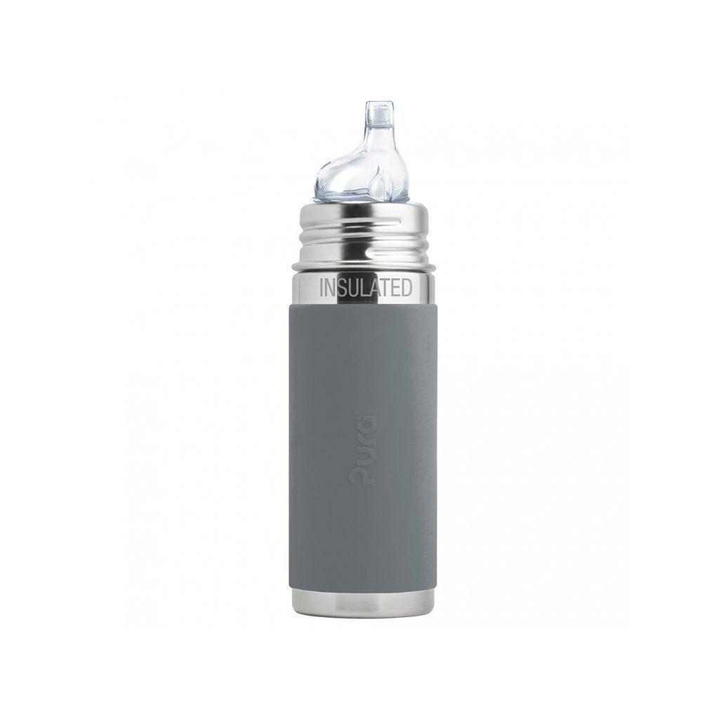 Pura® TERMO fľaša s náustkom 260ml sivá