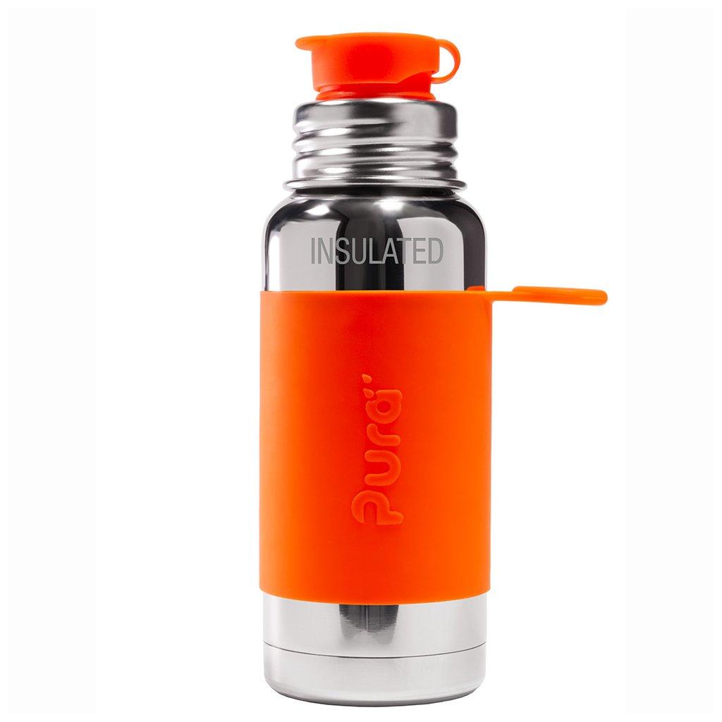 pura termo fľaša so športovým uzáverom 475 ml oranžová