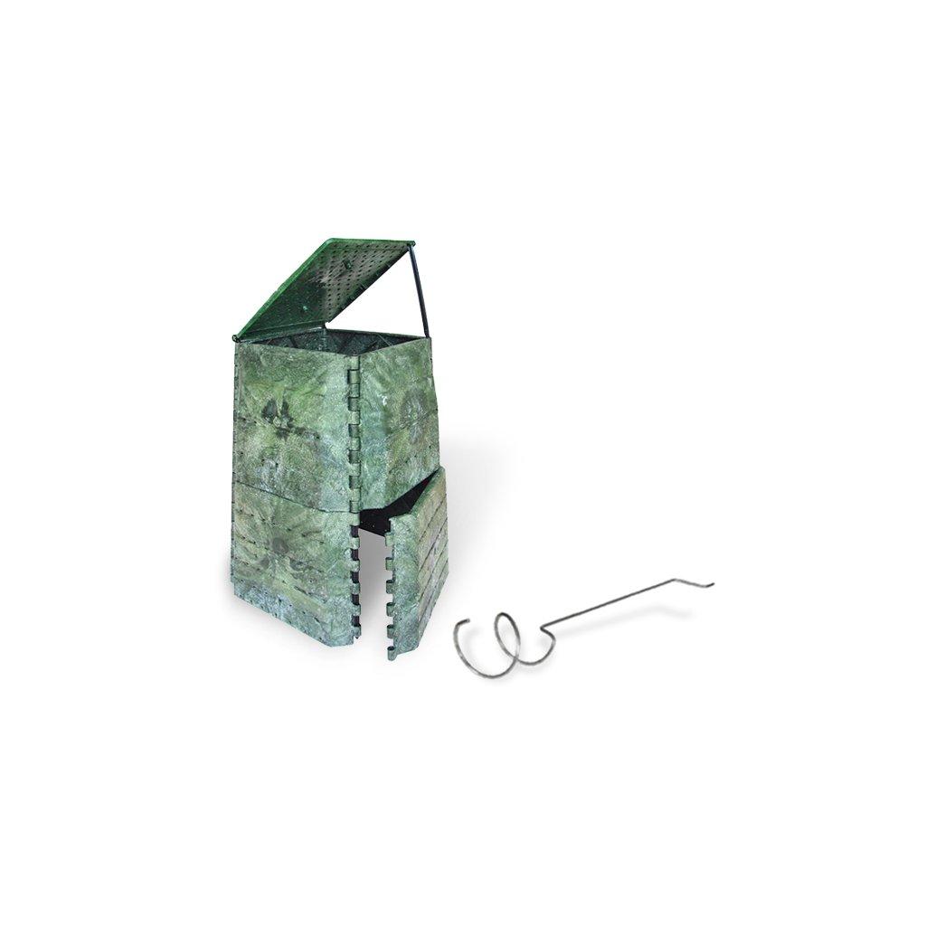 Kompostér JRK PREMIUM 445  Sprievodca kompostovaním + prekopávač ZDARMA