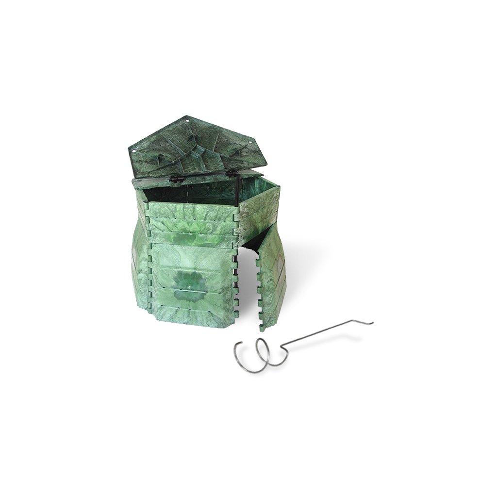 Kompostér JRK PREMIUM 650  Sprievodca kompostovaním + prekopávač ZDARMA