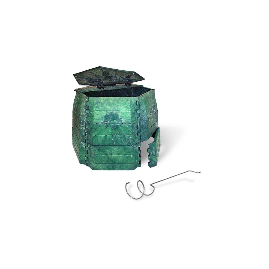 Kompostér JRK PREMIUM 800  Sprievodca kompostovaním + prekopávač ZDARMA