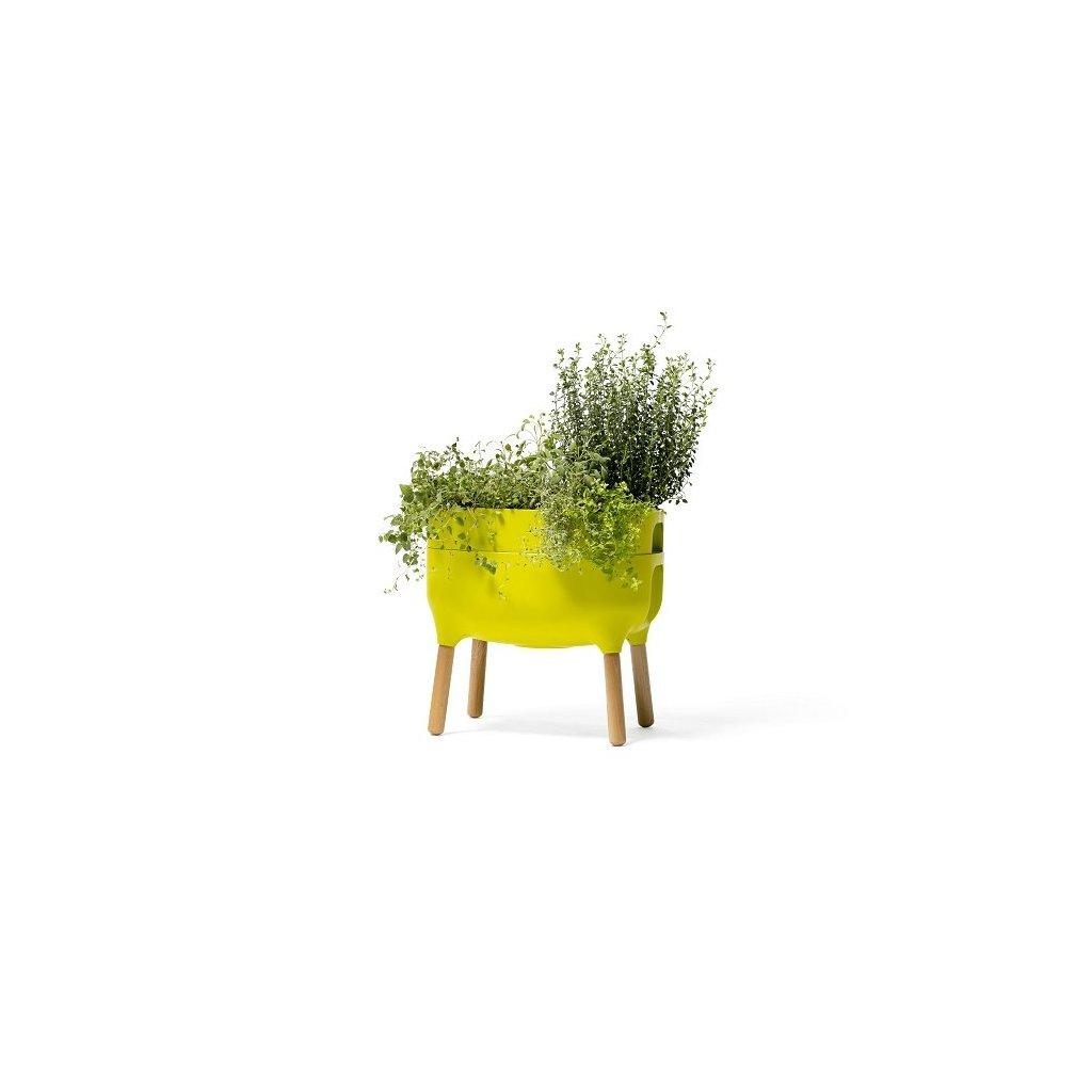 Urbalive nízka nádoba na pestovanie - zelená