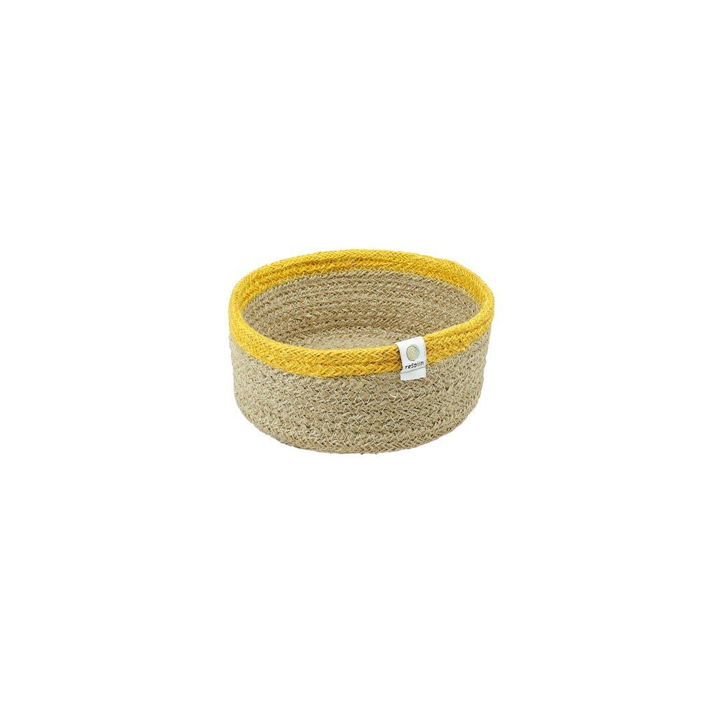 ReSpiin, Košík z juty malý - natural yellow