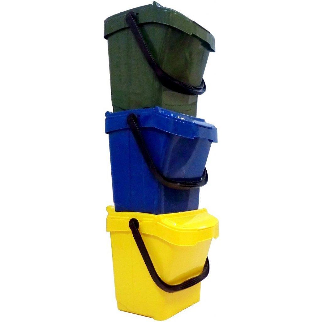 Koše na triedenie odpadu URBA 40 - set 3 ks