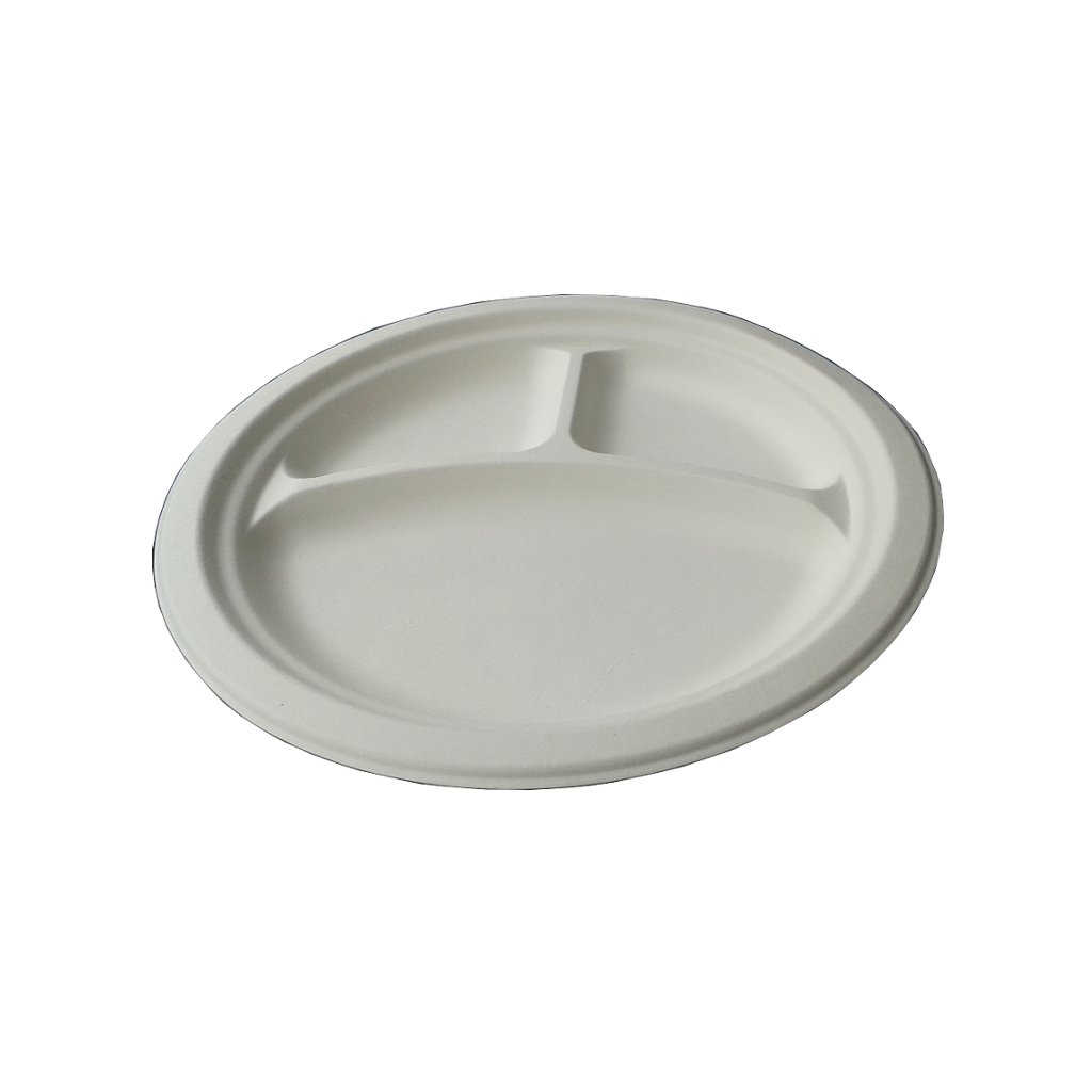 Vegware, Kompostovateľný tanier okrúhly 26 cm, 3 DIELNY