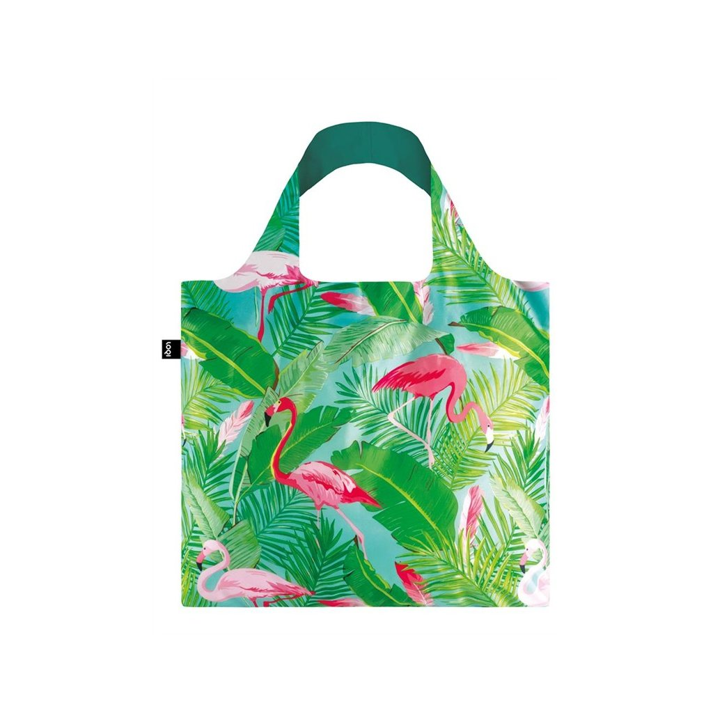 loqi wild flamingos bag