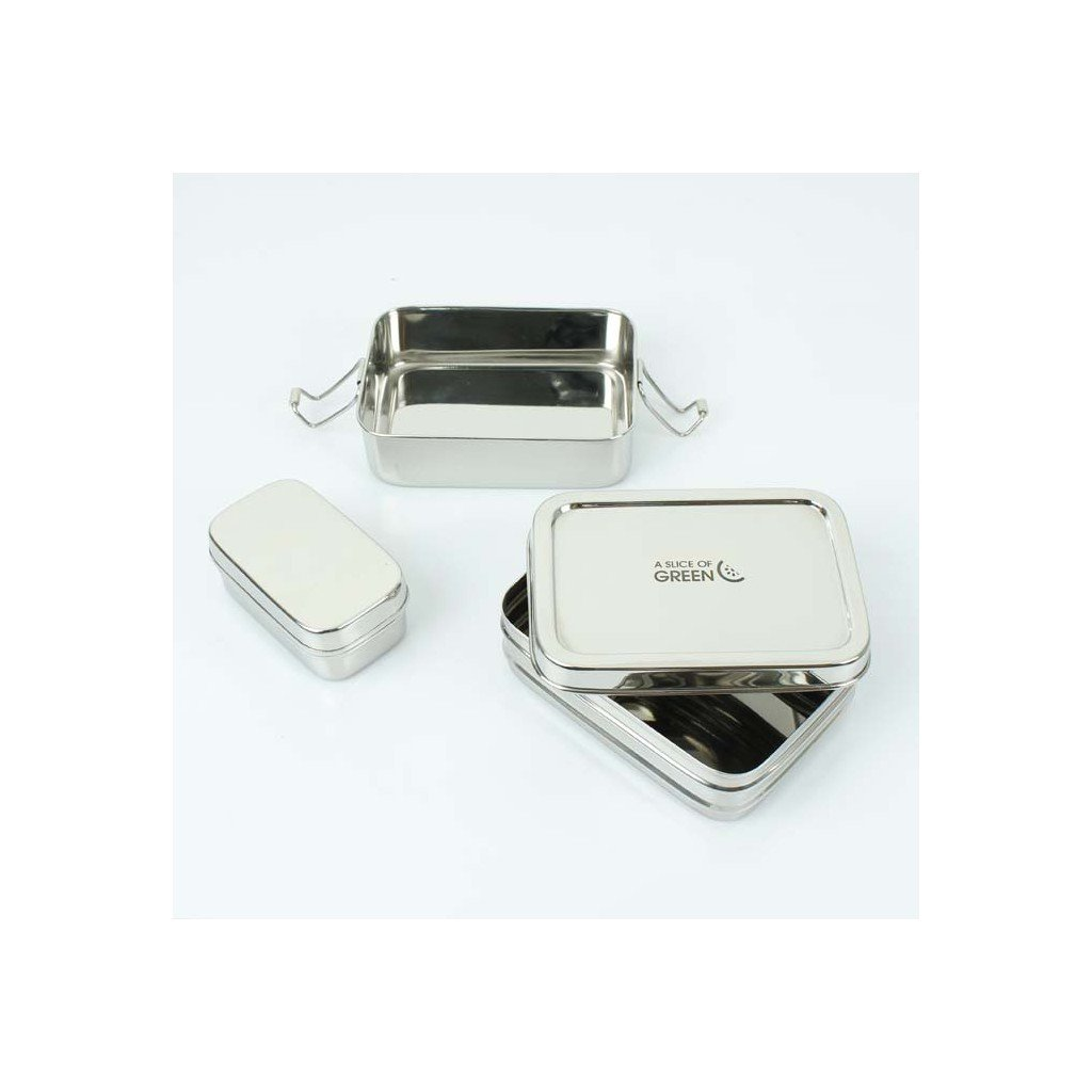 panna two tier lunch box with mini container