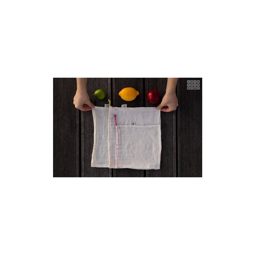 Loveyourhome, Plátené sáčky na potraviny - set 3 ks