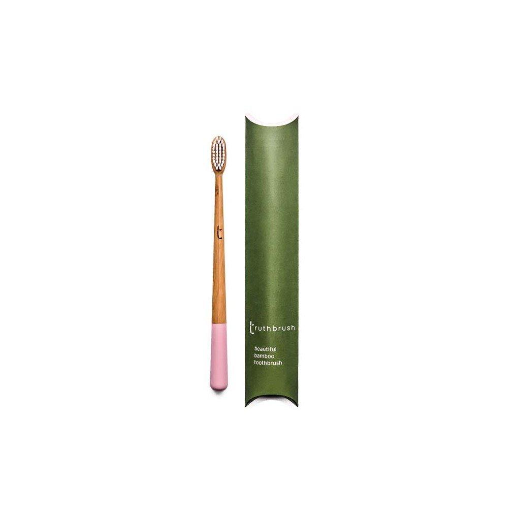 truthbrush pink medium castor oil bristles