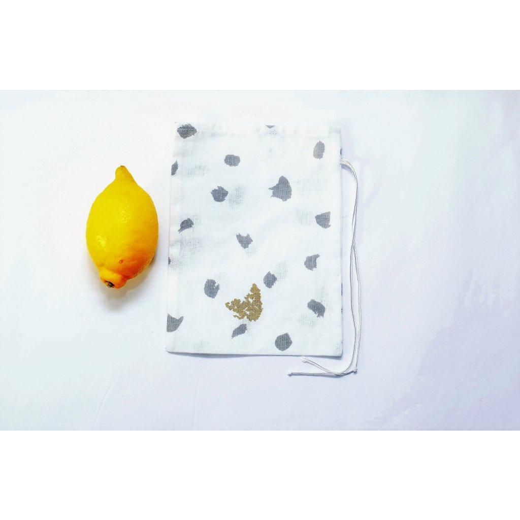 Dom Svitania, Plátený sáčok malý na sypané potraviny 15 x 21 cm