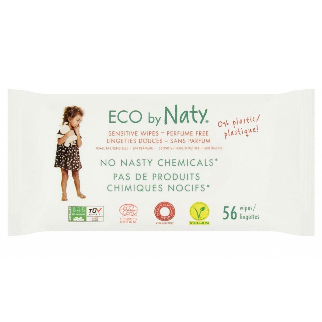Eco by naty vlhčené obrúsky bez vône