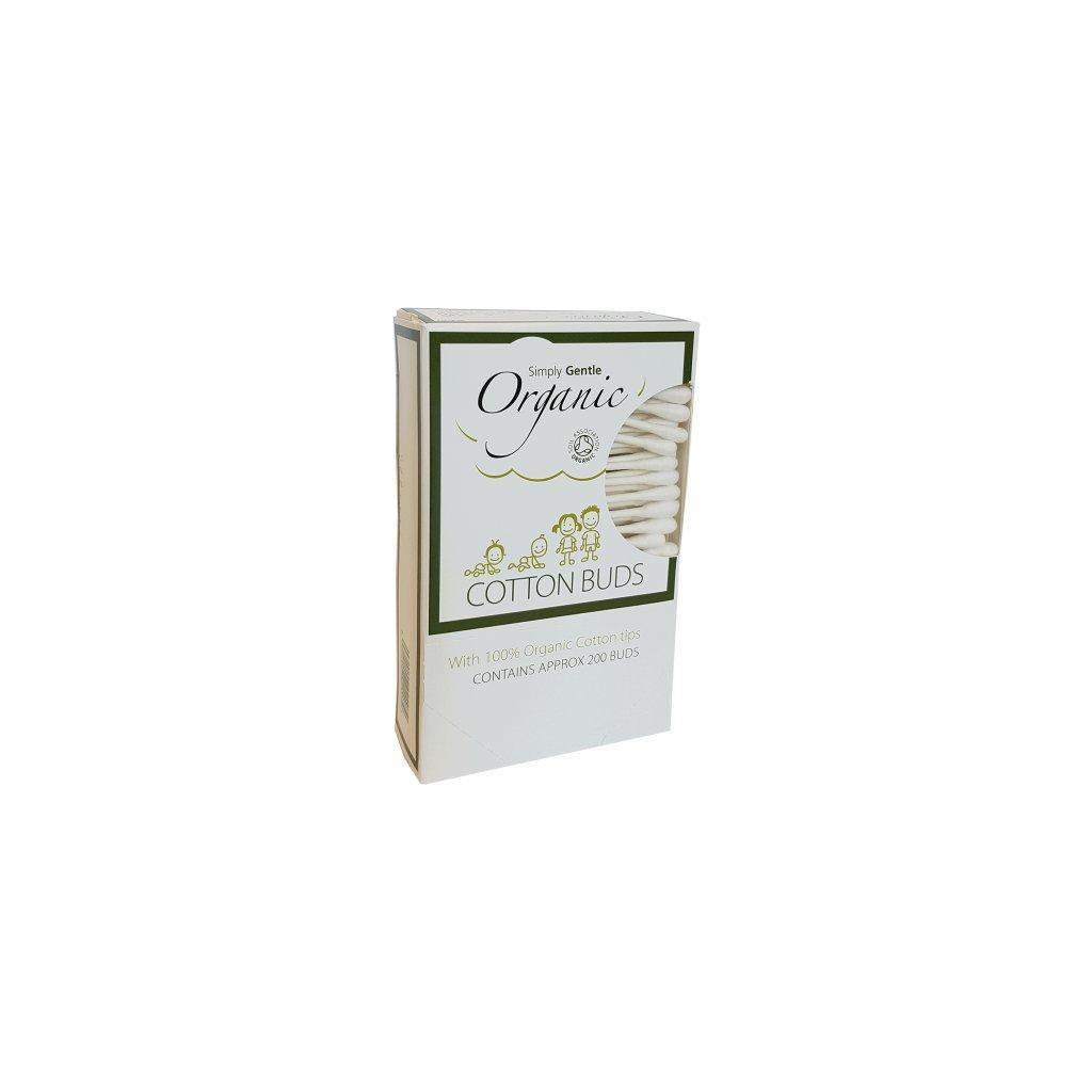 50407 simply gentle organic tycinky na cistenie usi bio 200ks