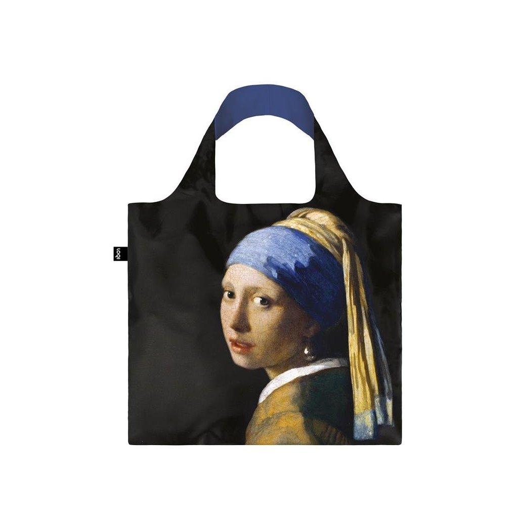 Nákupná taška LOQI Museum, Vermeer - Girl with a Pearl