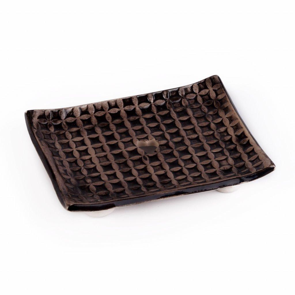 61233 Mydelnička keramická čierna