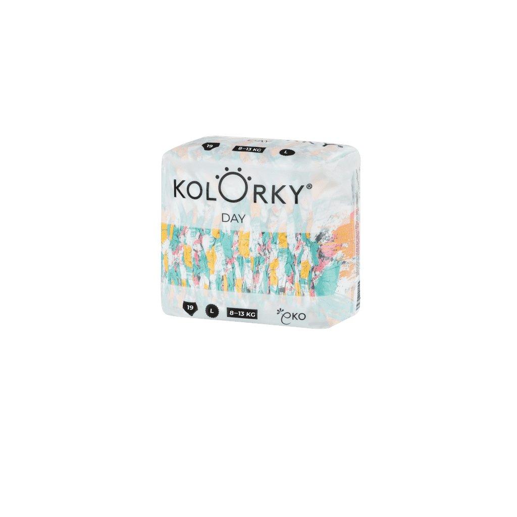 Kolorky, Denné plienky L, 8 - 13 kg - Štetec