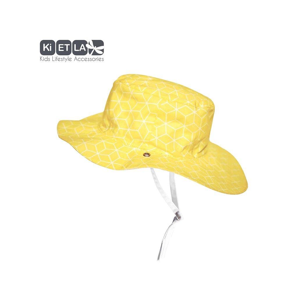 KiETLA, Obojstranný klobúčik s UV ochranou - Cubic Sun, 47 cm