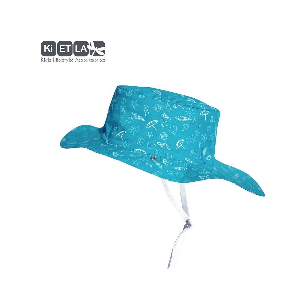 KiETLA, Obojstranný klobúčik s UV ochranou - 52 cm - Swimming Pool